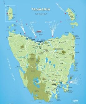 Tasmania travel map