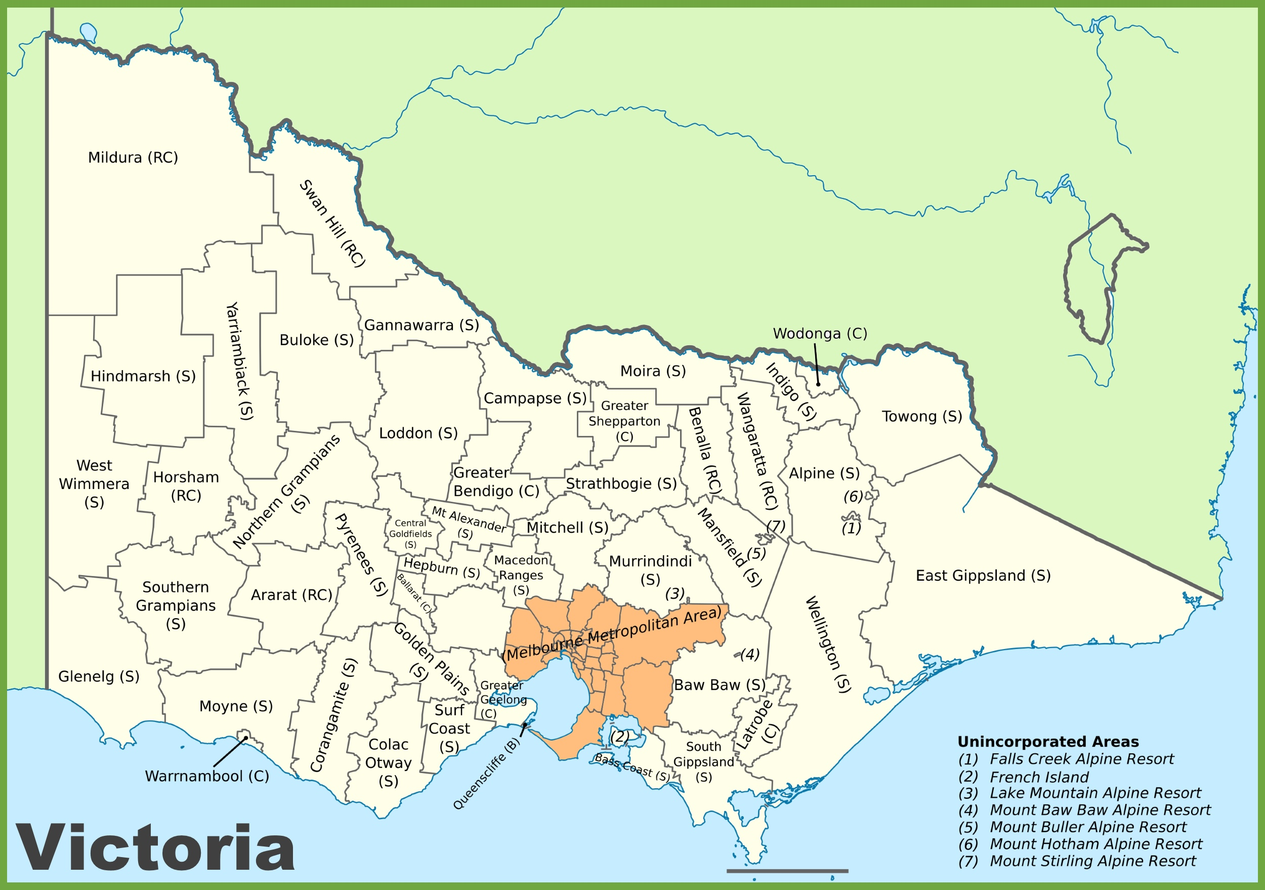 Map Of Vic Victoria local government area map