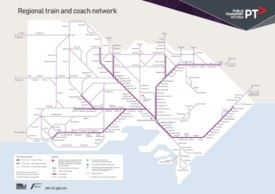 Victoria train and coach network map