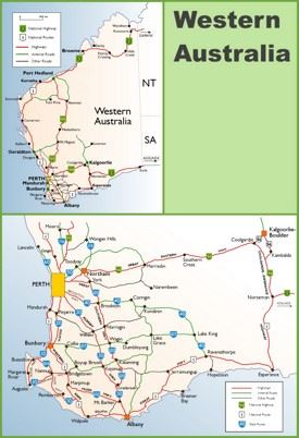 Western Australia highway map