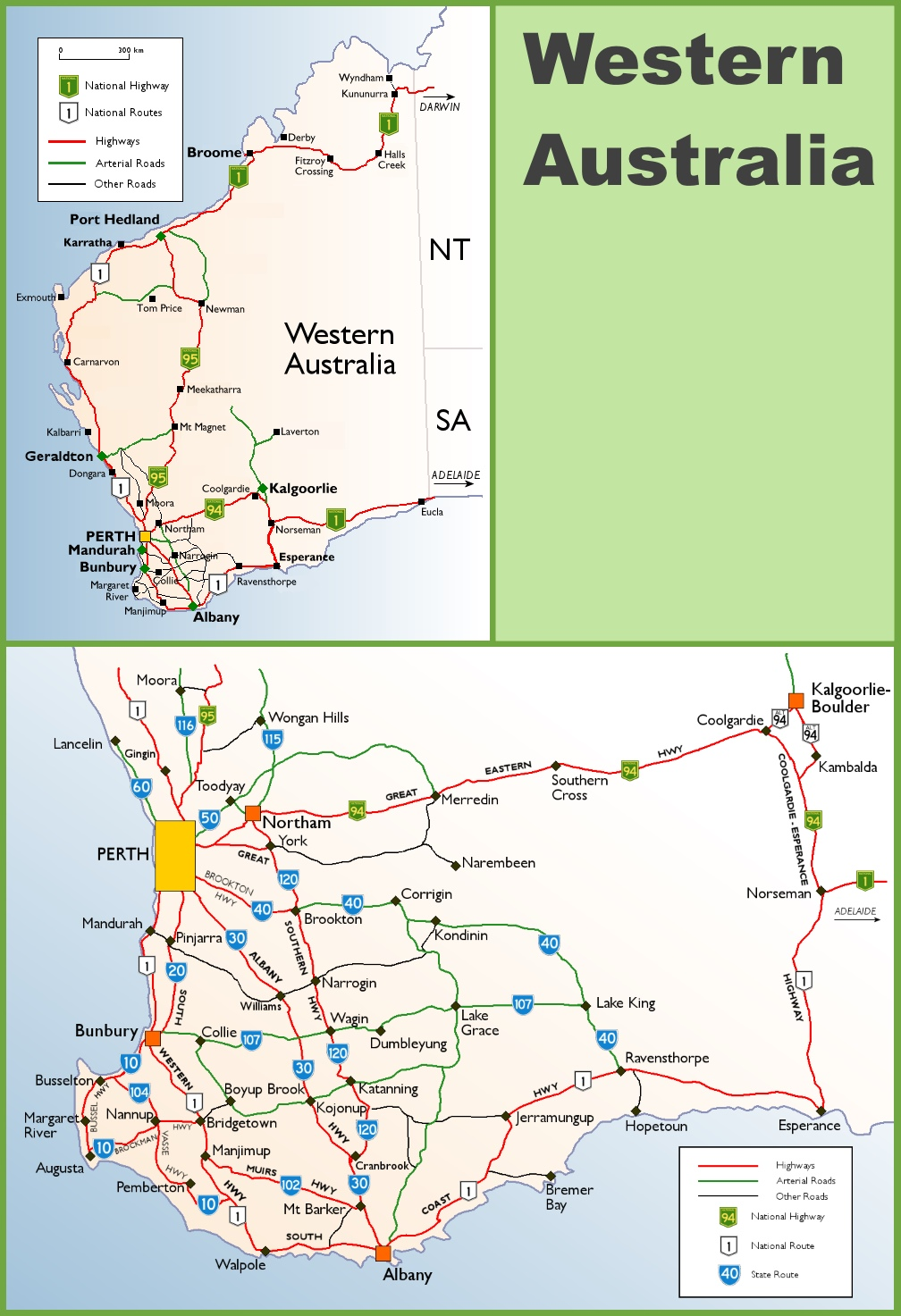Western australia highway map western australia highway map gumiabroncs Image collections