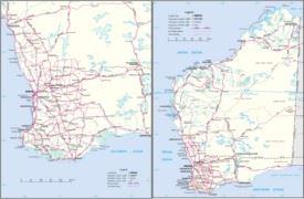 Western Australia road map