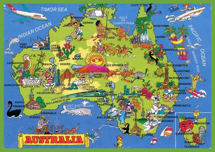 Tourist map of Australia