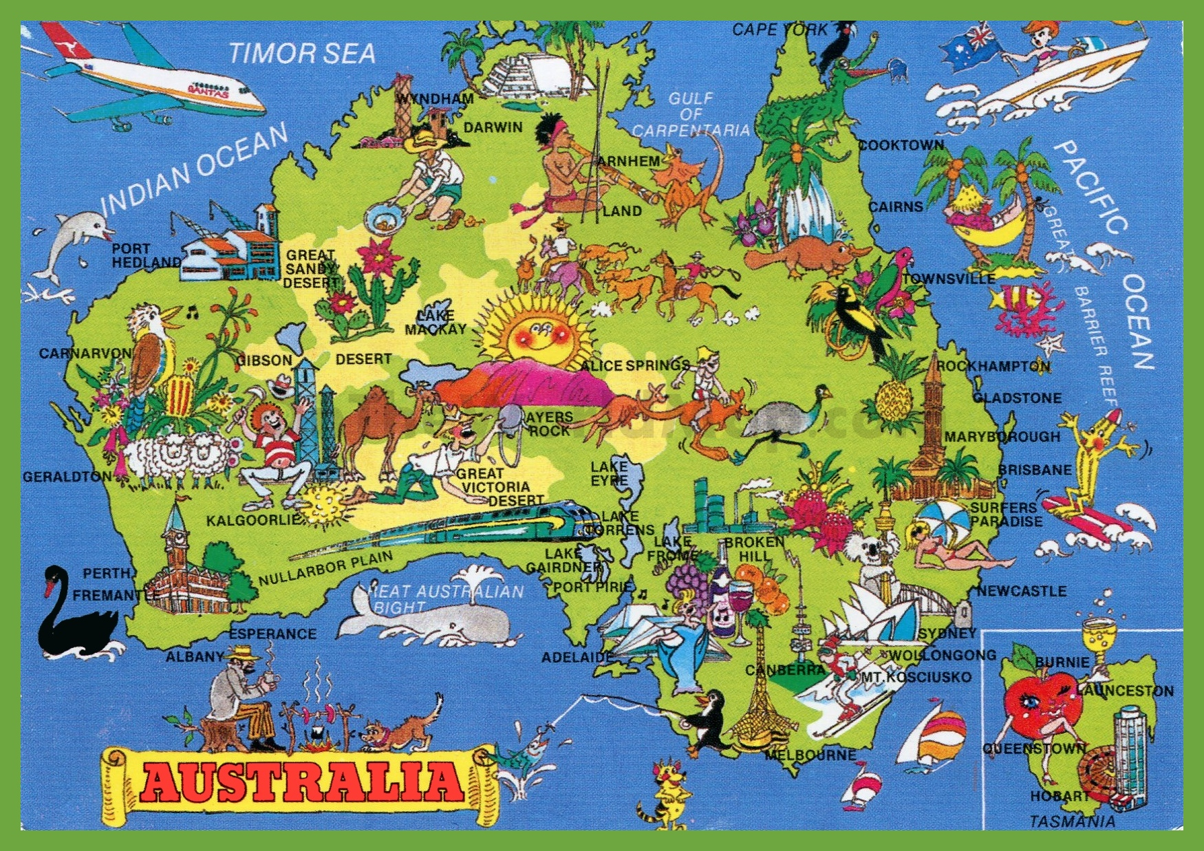 Tourist map of Australia – Map of Australlia