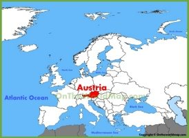 Austria location on the Europe map