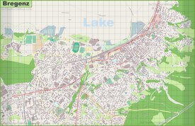 Large detailed map of Bregenz