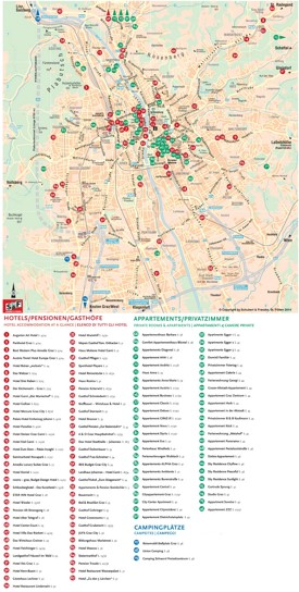 Graz accommodation map