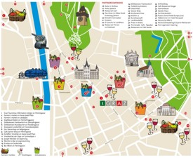Graz restaurants and bars map