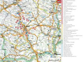 Tourist map of surroundings of Graz