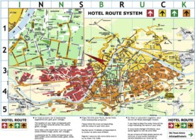 Innsbruck hotel map