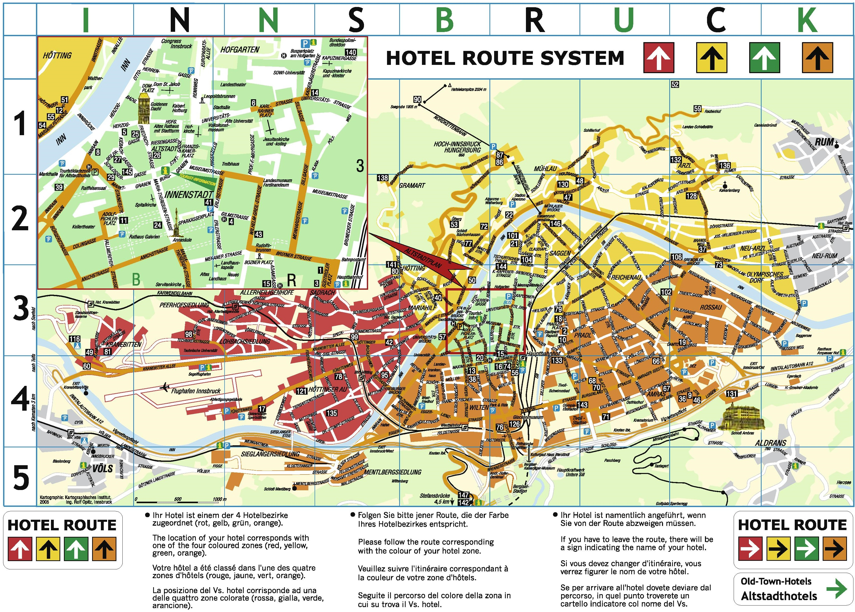 Innsbruck hotel map