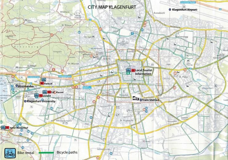 Klagenfurt bike map
