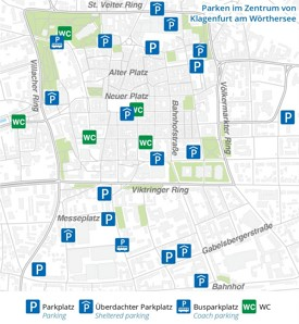 Klagenfurt parking map