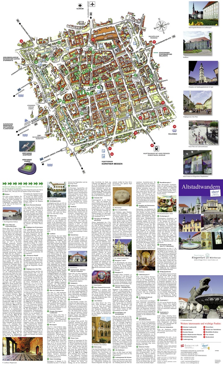 Klagenfurt tourist map