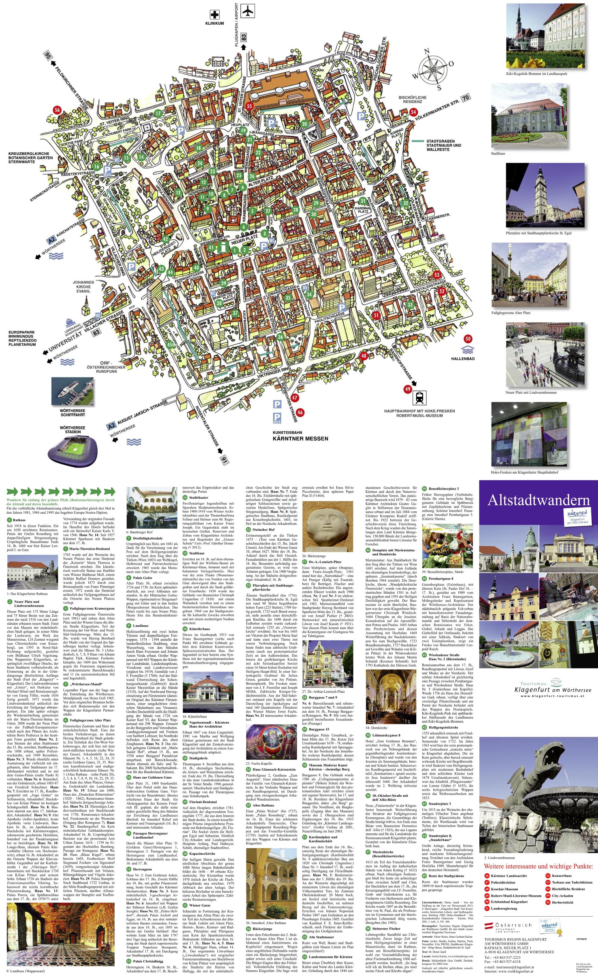 Klagenfurt Maps Austria Maps of Klagenfurt am Wrthersee