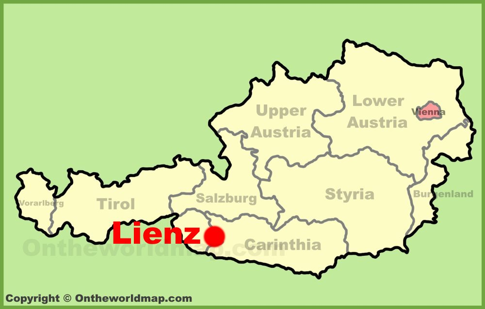 Lienz Location On The Austria Map