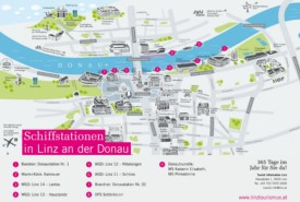 Linz boat map