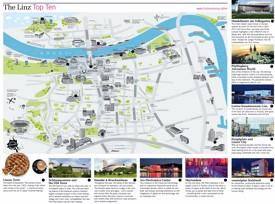 Linz city center map