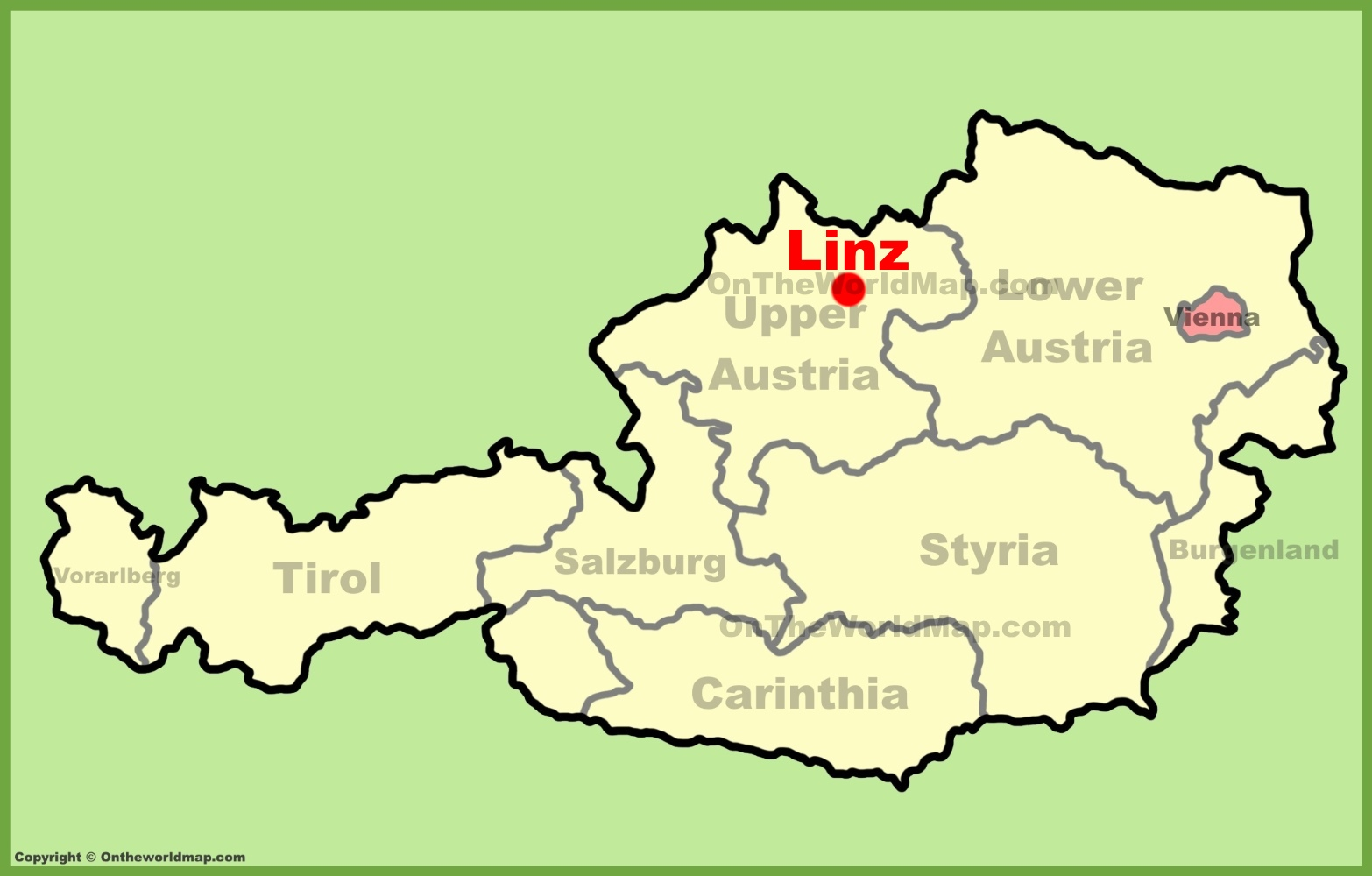 Linz location on the Austria Map