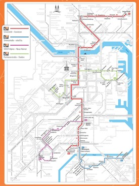 Linz night transport map