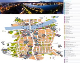 Linz sightseeing map
