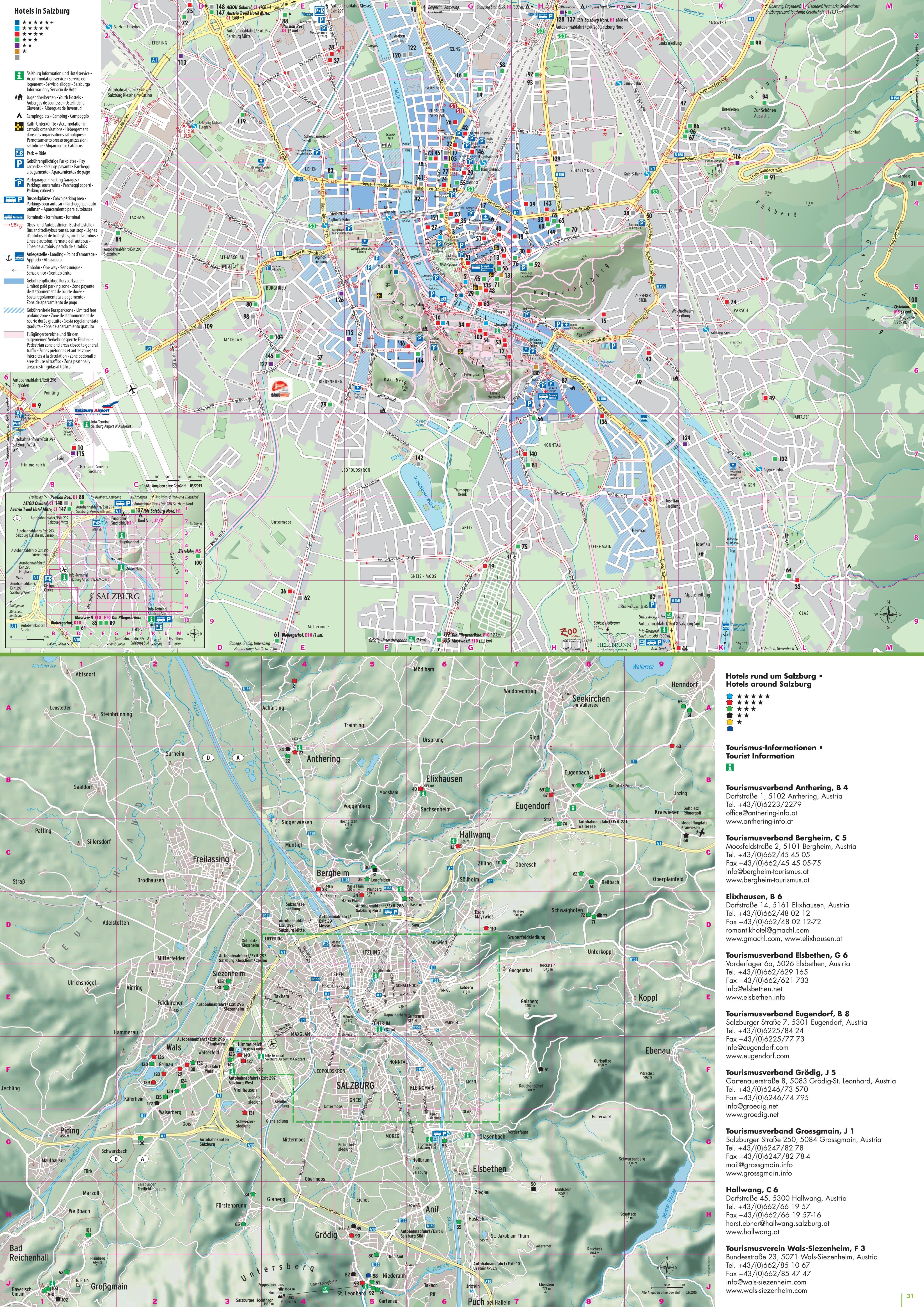 Salzburg accommodation map