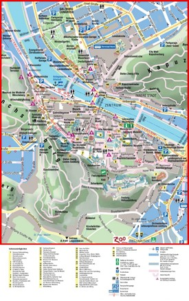Salzburg city center map