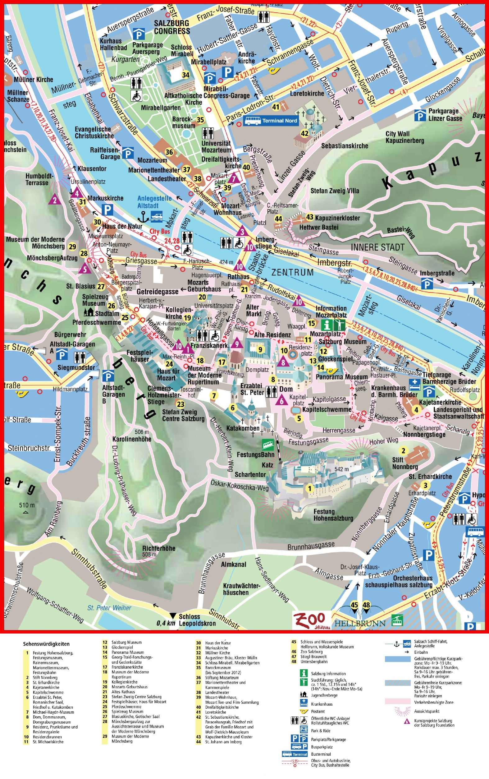 Salzburg City Center Map - Germany map salzburg