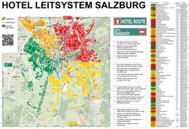 Salzburg hotel map