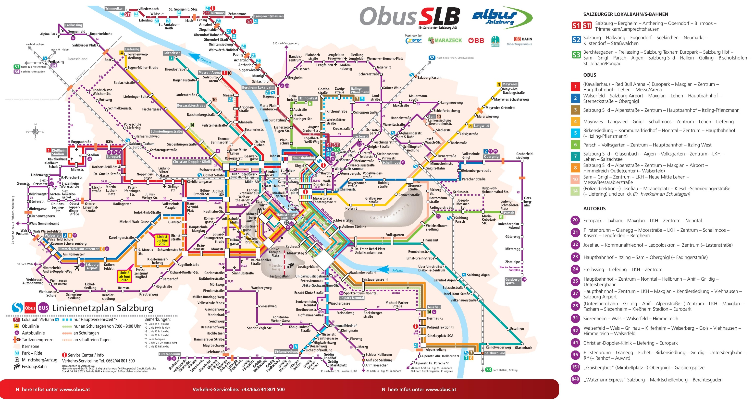 Salzburg Public Transport Map - Germany map salzburg