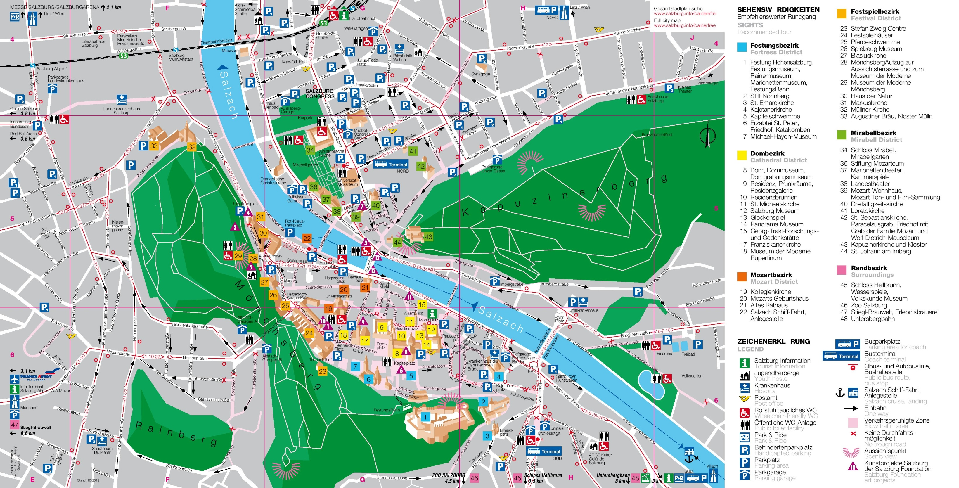 Salzburg Tourist Map - Germany map salzburg