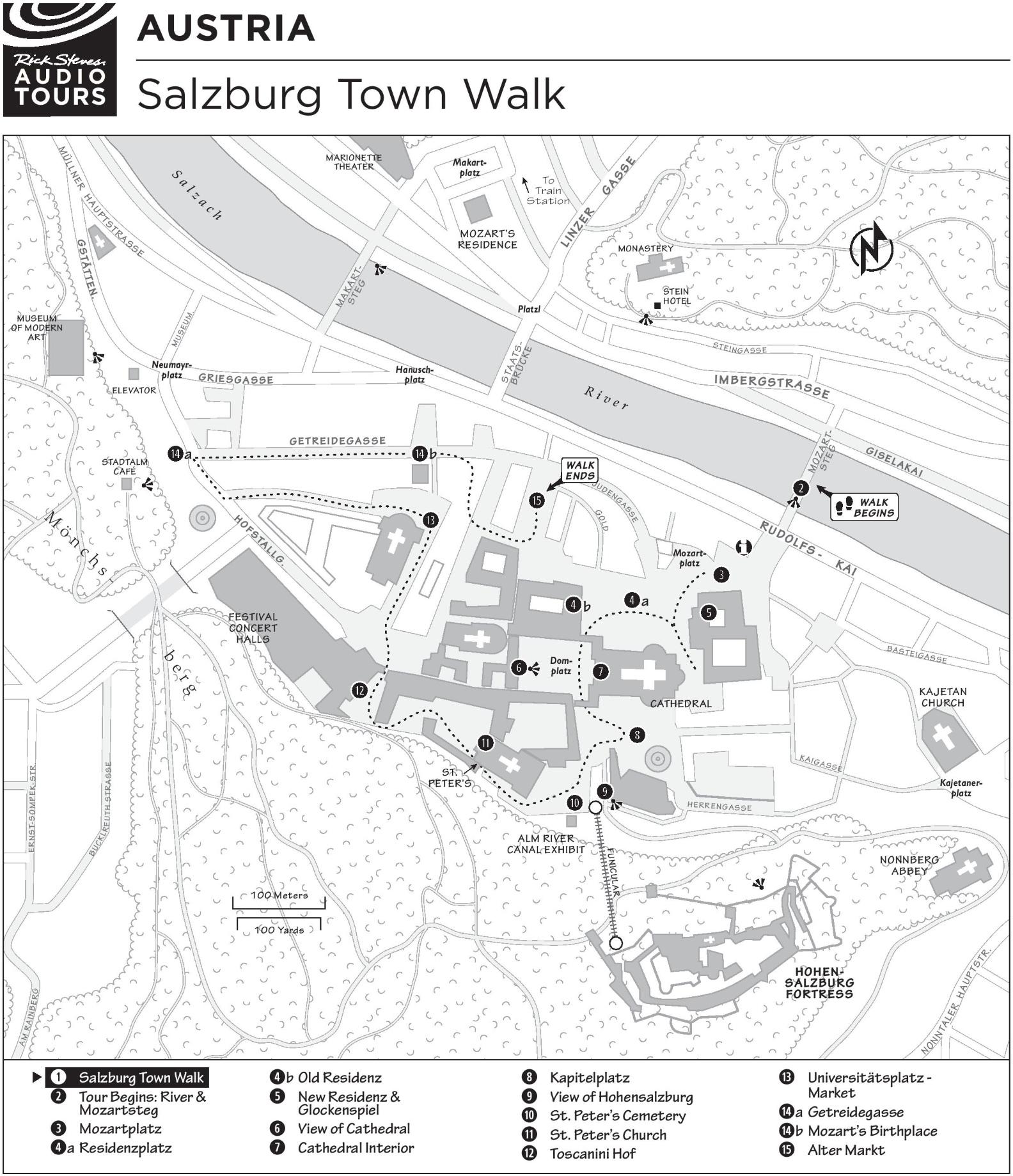 Salzburg walk map