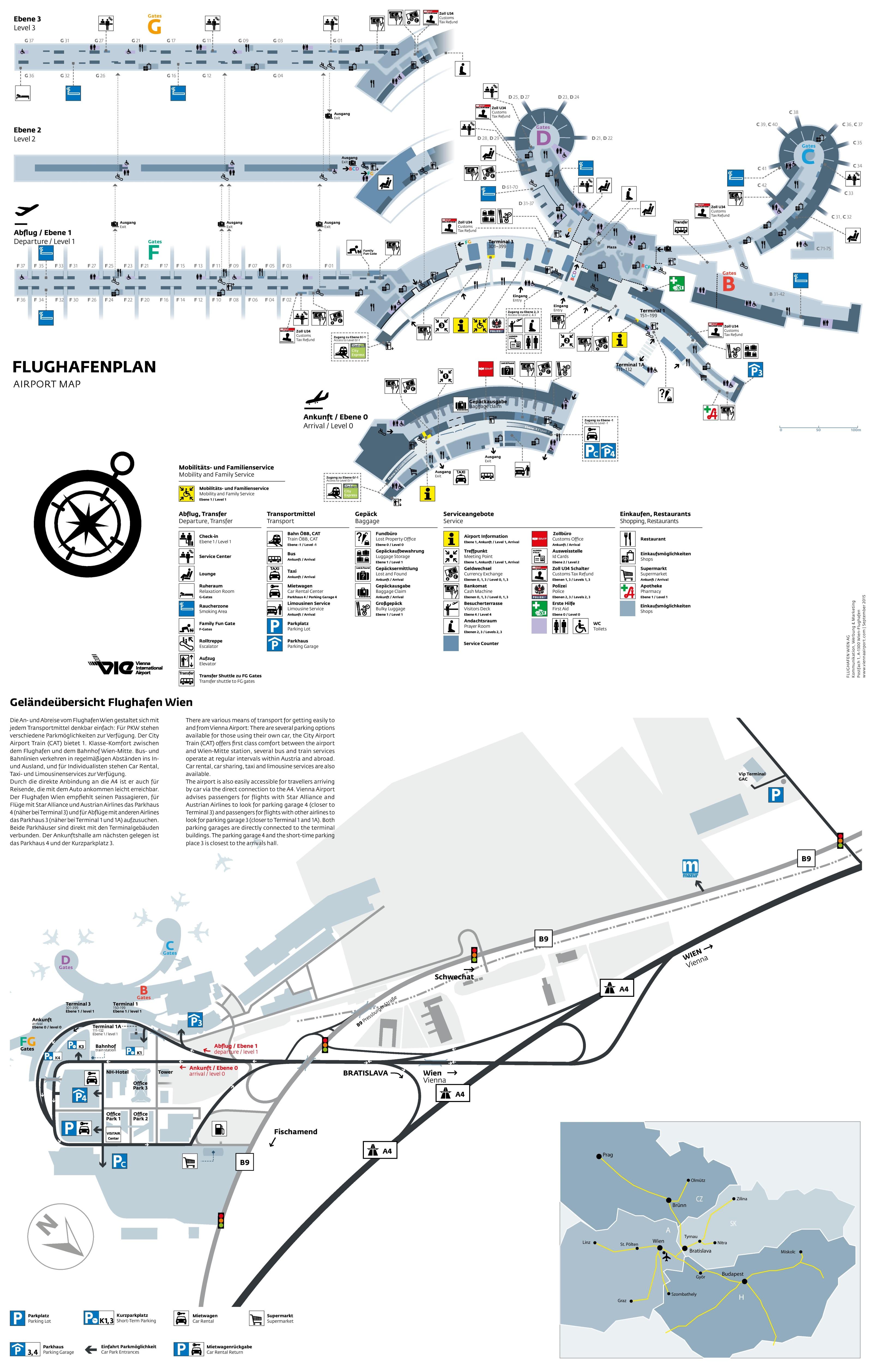 Vienna Airport Map
