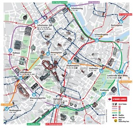 Vienna city center map