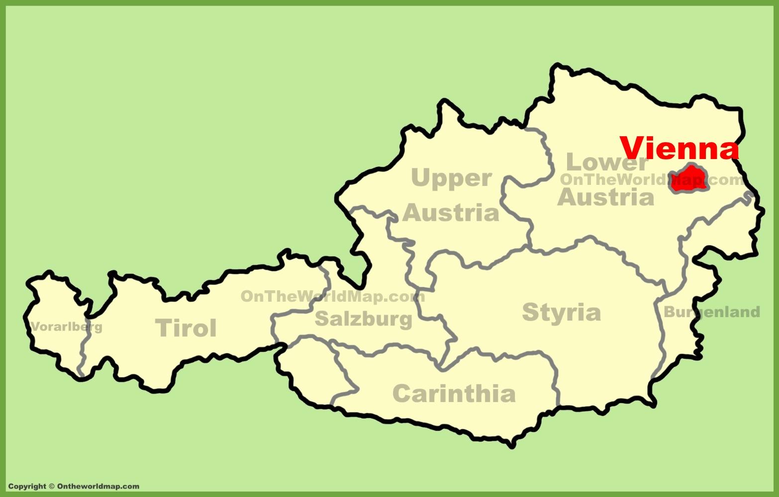 Vienna Austria Map Vienna Maps | Austria | Maps of Vienna (Wien)