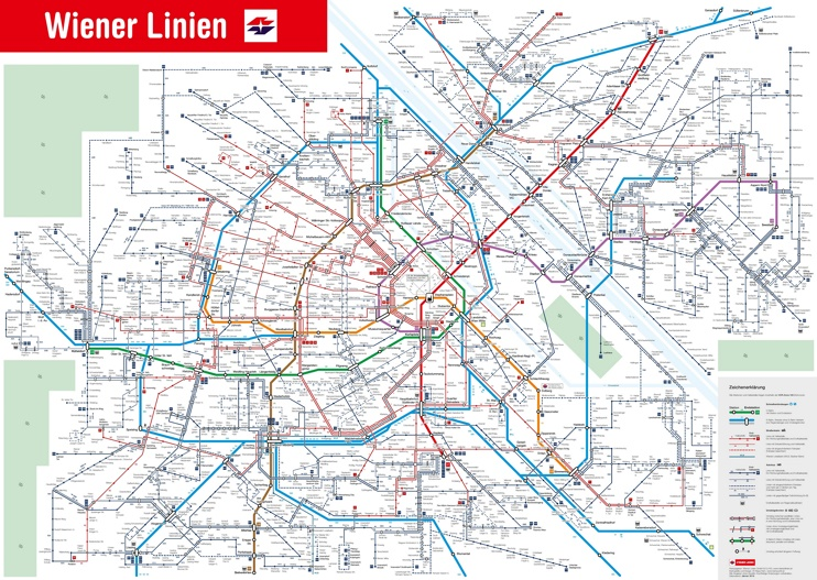 Vienna public transport map