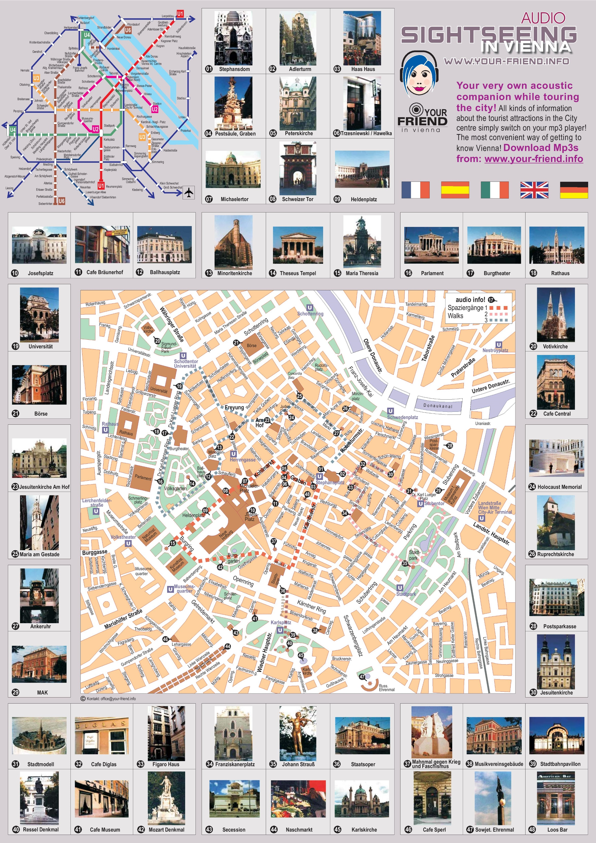 Printable Map Vienna – Austria Tourist Attractions Map