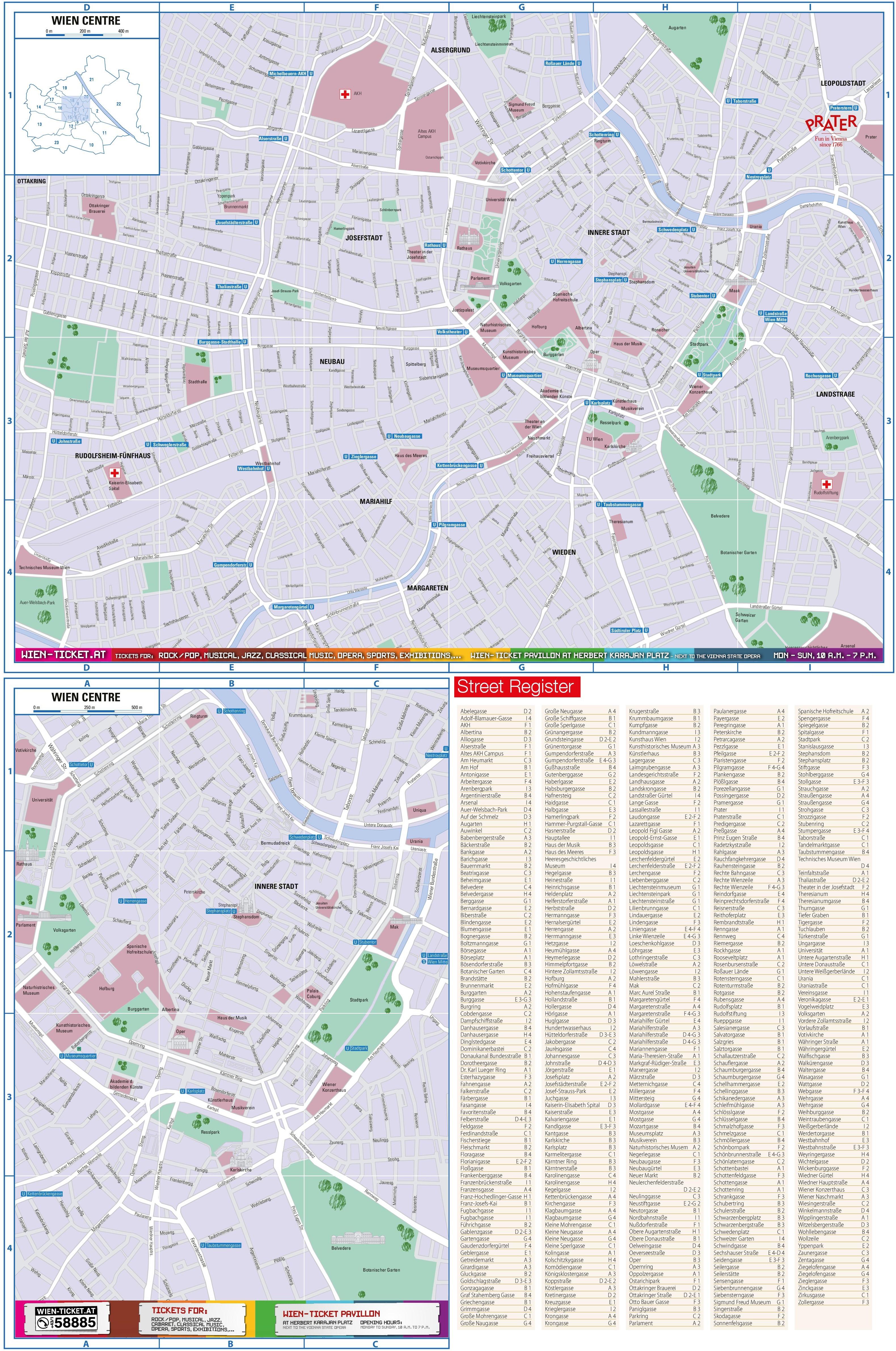Vienna street map