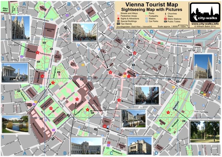 Vienna tourist attractions map