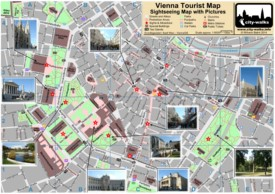 Vienna tourist attractions map
