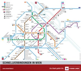 Vienna U-Bahn and S-Bahn map