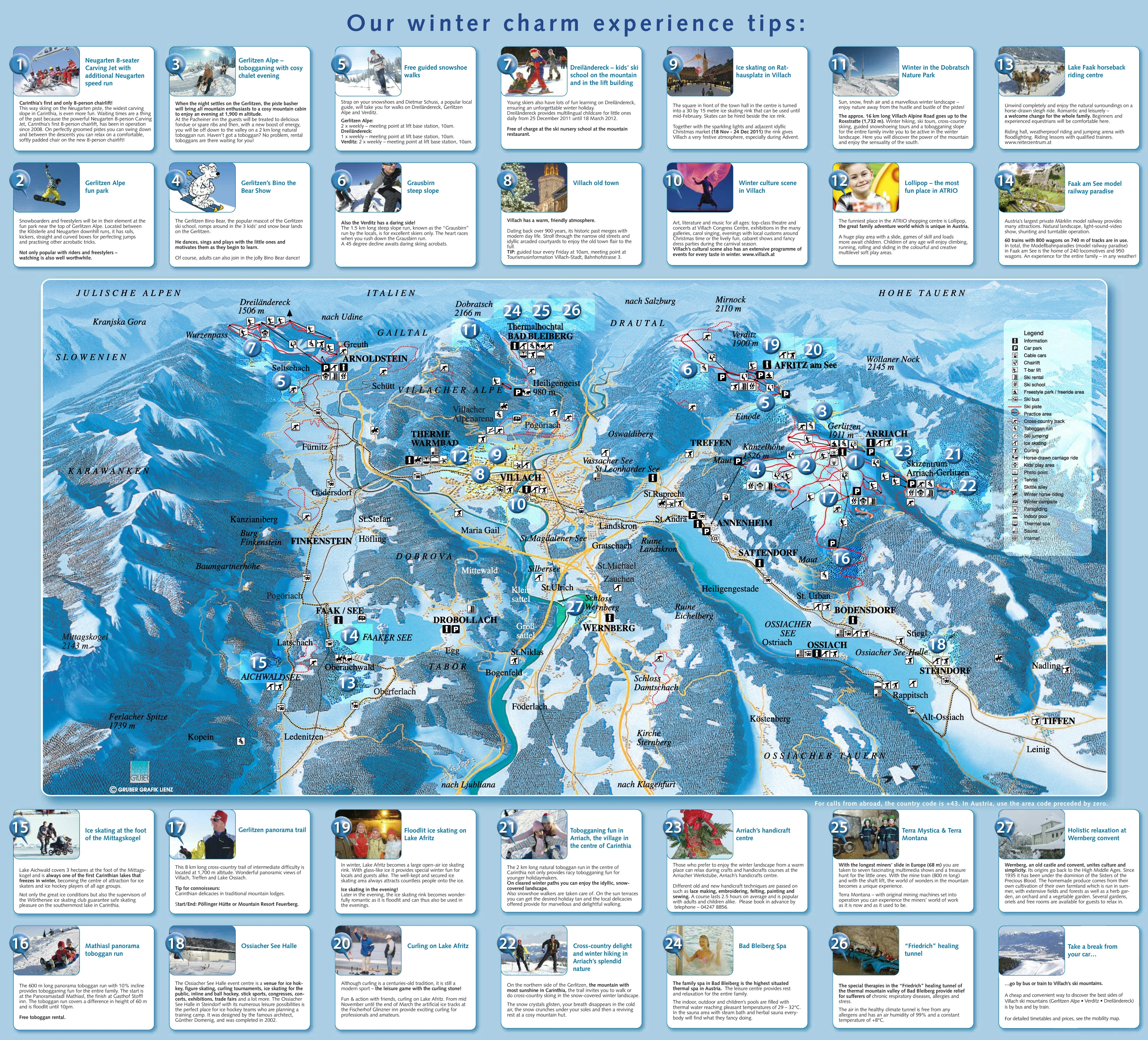 Best Places In The Us To Snowboard: Villach Ski Map