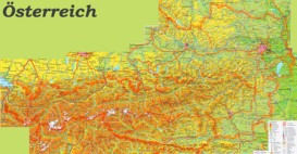Large detailed map of Austria