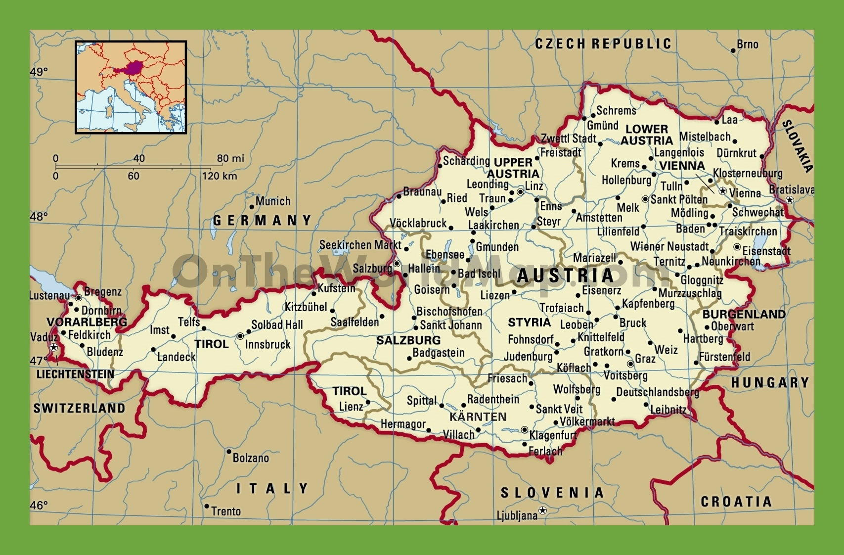 austria maps map of austria