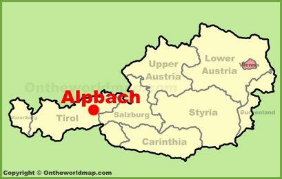 Alpbach Location Map