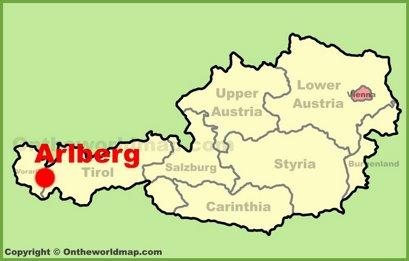 Arlberg Location Map