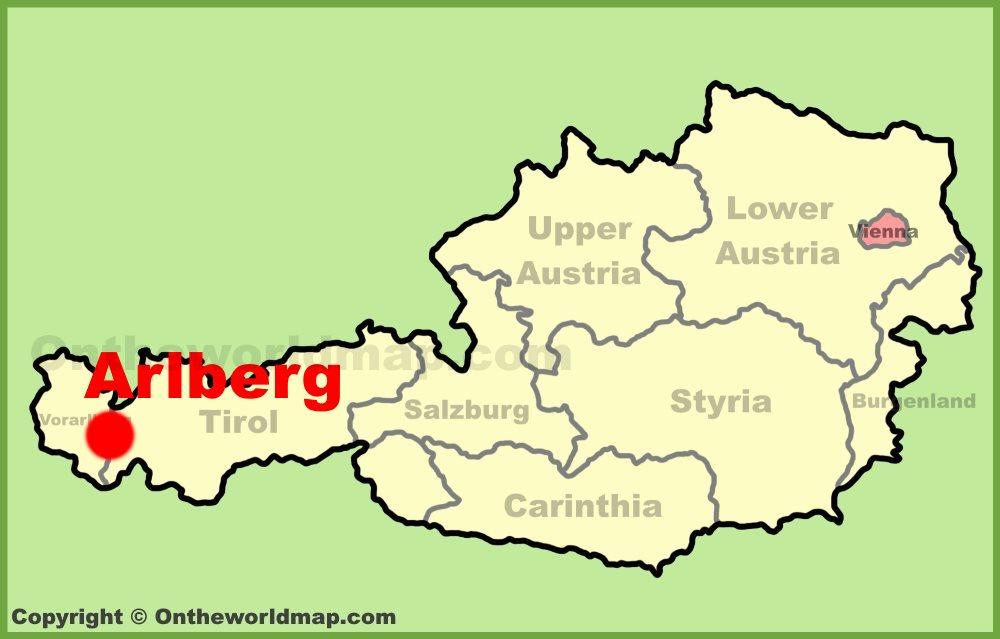 Arlberg location on the Austria Map
