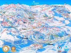 Arlberg ski map