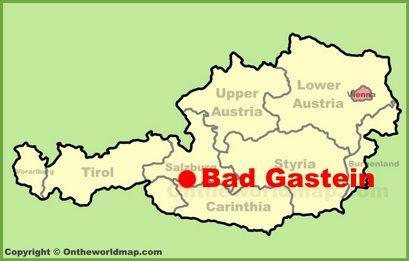 Bad Gastein Location Map