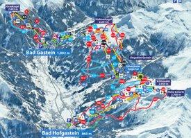 Bad Gastein ski map